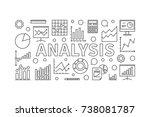 analysis vector horizontal... | Shutterstock .eps vector #738081787
