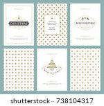 merry christmas greeting cards... | Shutterstock .eps vector #738104317