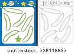preschool worksheet for... | Shutterstock .eps vector #738118837