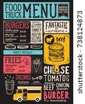 food truck menu for street... | Shutterstock .eps vector #738124873