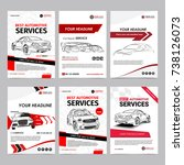 auto repair services business... | Shutterstock .eps vector #738126073