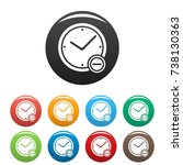 time minus icons set.  simple... | Shutterstock . vector #738130363