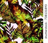 watercolor seamless pattern...   Shutterstock . vector #738131893