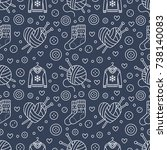 knitting  sewing seamless... | Shutterstock .eps vector #738140083