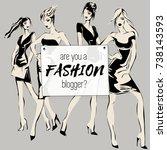 social media fashion banner... | Shutterstock .eps vector #738143593