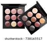 realistic cosmetics set on... | Shutterstock .eps vector #738165517