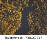 beautiful orange and red autumn ... | Shutterstock . vector #738167737