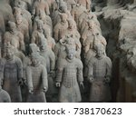 xian china  12 august 2005  the ...   Shutterstock . vector #738170623