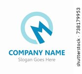 abstract logo template for your ... | Shutterstock .eps vector #738179953