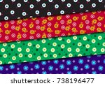 the pattern flowers on... | Shutterstock .eps vector #738196477