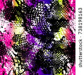 abstract seamless pattern with... | Shutterstock .eps vector #738198163