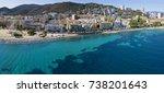 aerial view of ajaccio  corsica ... | Shutterstock . vector #738201643