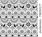mexican folk art vector...   Shutterstock .eps vector #738202177