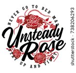romantic vector rose graphic... | Shutterstock .eps vector #738206293