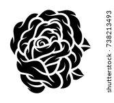 flower rose  black and white.... | Shutterstock .eps vector #738213493