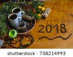 christmas breakfast  christmas...   Shutterstock . vector #738214993
