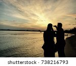 capture moment during sunset | Shutterstock . vector #738216793