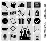 set of 22 business icons or... | Shutterstock .eps vector #738236353