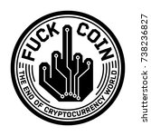 fuck digital currency coin... | Shutterstock .eps vector #738236827