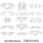 vintage calligraphic elements....   Shutterstock .eps vector #738251953