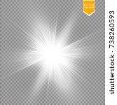 glow light effect. starburst... | Shutterstock .eps vector #738260593