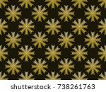 snowflakes seamless pattern....   Shutterstock .eps vector #738261763