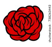 red rose isolated on white...   Shutterstock .eps vector #738263443
