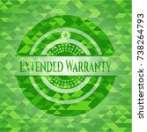 extended warranty green emblem. ...   Shutterstock .eps vector #738264793