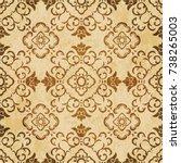 retro brown watercolor texture...   Shutterstock .eps vector #738265003