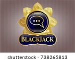 golden emblem or badge with...   Shutterstock .eps vector #738265813