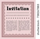 red formal invitation. with...   Shutterstock .eps vector #738267883