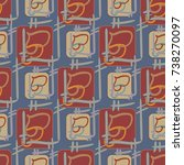 new colorful seamless pattern...   Shutterstock .eps vector #738270097
