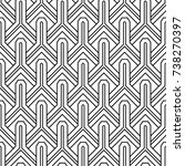 geometric ornament. black and...   Shutterstock .eps vector #738270397