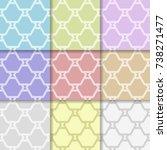 geometric seamless ornaments....   Shutterstock .eps vector #738271477