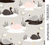 seamless childish pattern with... | Shutterstock .eps vector #738283813