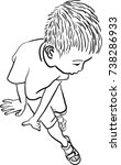 vector art drawing of little... | Shutterstock .eps vector #738286933