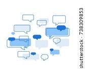 flat illustration of speech... | Shutterstock .eps vector #738309853