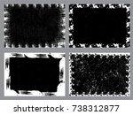 grunge frame set. vector...   Shutterstock .eps vector #738312877
