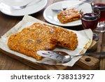 galician style homemade tuna...   Shutterstock . vector #738313927