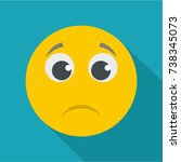sad smile icon. vector flat... | Shutterstock .eps vector #738345073