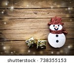 christmas decoration on the... | Shutterstock . vector #738355153
