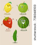 fruits  cartoon vegetables ...   Shutterstock .eps vector #738368503