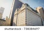 new york  usa  november 1  2016 ... | Shutterstock . vector #738384697