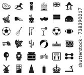 ball icons set. simple style of ... | Shutterstock . vector #738390217