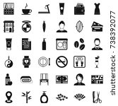 beauty salon icons set. simple... | Shutterstock . vector #738392077