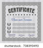 grey certificate or diploma
