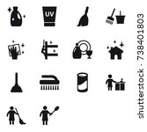 16 vector icon set   cleanser ... | Shutterstock .eps vector #738401803