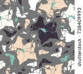 abstract seamless pattern with... | Shutterstock .eps vector #738409993