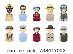 rescue and safety... | Shutterstock .eps vector #738419053