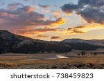 Sunset at Lamar Valley, Yellowstone National Park, WY, USA